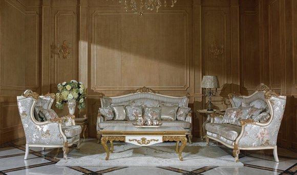 3+1 Sofagarnitur Couch Sofa Polster Garnitur Königliche Garnituren Barock Stil