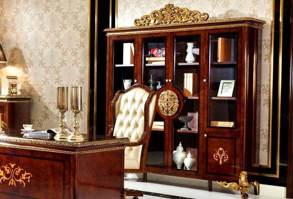 Schreibtisch Büro Tisch Klassischer Designer Office Tische Barock Rokoko E63 Neu