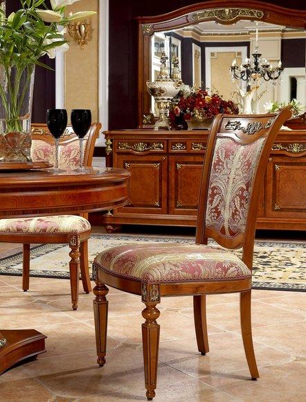 1x Stuhl Sessel Stühle Antik Stil Barock Rokoko Sitz Garnitur Echtes Holz Neu