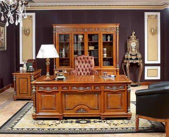 Wallstreet Chef Schreibtisch XXL Echte Handarbeit Büro Design Holz Büro Tische
