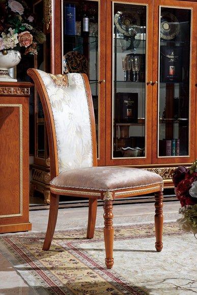 1x Stuhl Tron Sessel Set E62 Esszimmer Designer Holz Antik Stil Barock Rokoko