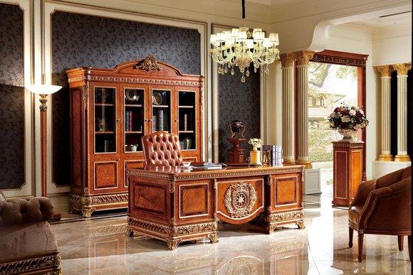 Schreibtisch Büro Tisch Klassischer Designer Office Tische Barock Rokoko E62 Neu