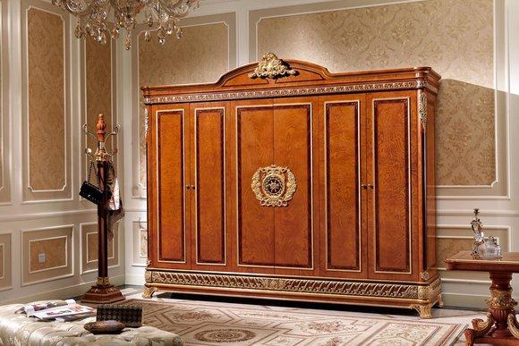 Kleiderschrank Schlafzimmer E62 Holz Schrank Antik Stil Barock ...