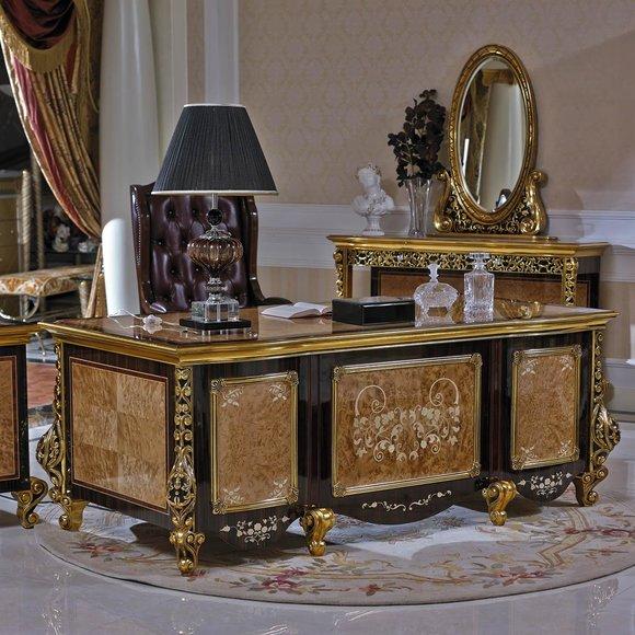 Schreibtisch Büro Tisch Klassischer Designer Office Tische Barock Rokoko E61 Neu