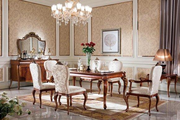1x Stuhl Tron Sessel Set Esszimmer Designer Holz Antik Stil Barock Rokoko E70