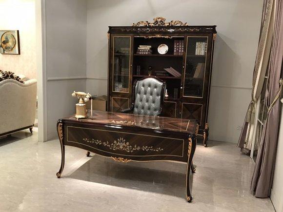 Einrichtung Arbeitszimmer Büro Möbel Tisch Schrank Sessel 3tgl Set Garnitur  E70