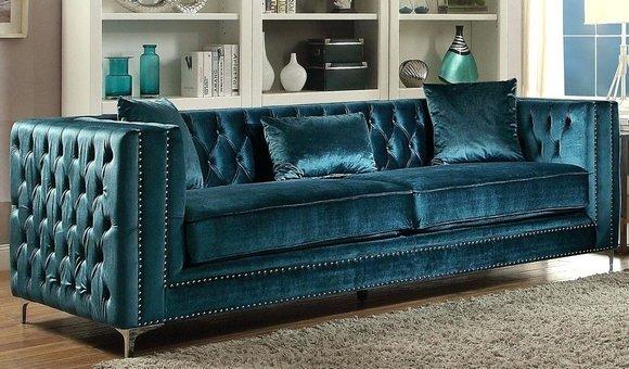 designer chesterfield herrliches  sitzer sofa premium
