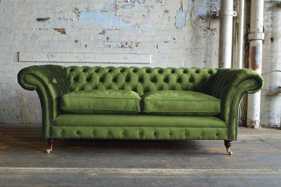 Design Chesterfield Luxus 3-Sitzer Sofa der Premium Klasse ...