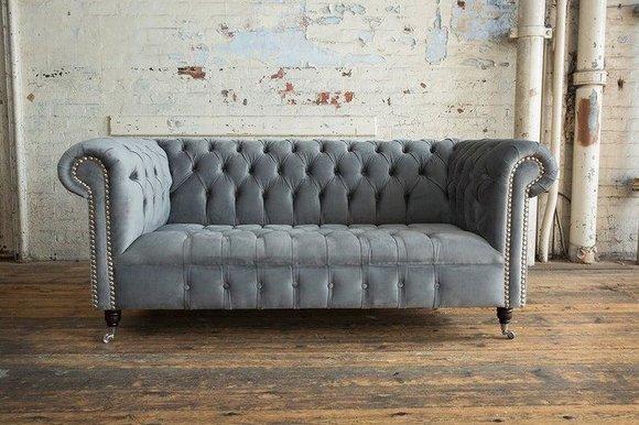 CHESTERFIELD 3-Sitzer Sofa Textil Design Stil Wohnzimmer ...