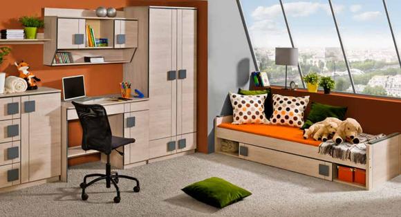 6 Teile Kinderzimmer Jugend & Schlafzimmer Kinder Wohn Möbel Set Garnitur Neu
