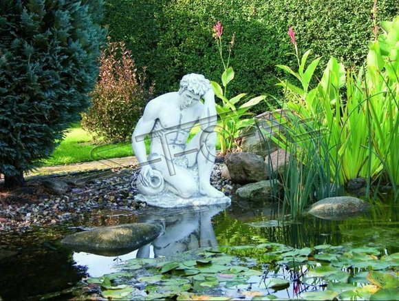 Fontainen Teich Figur Adam Statue Figuren Skulptur Statuen Skulptur 85cm SOFORT