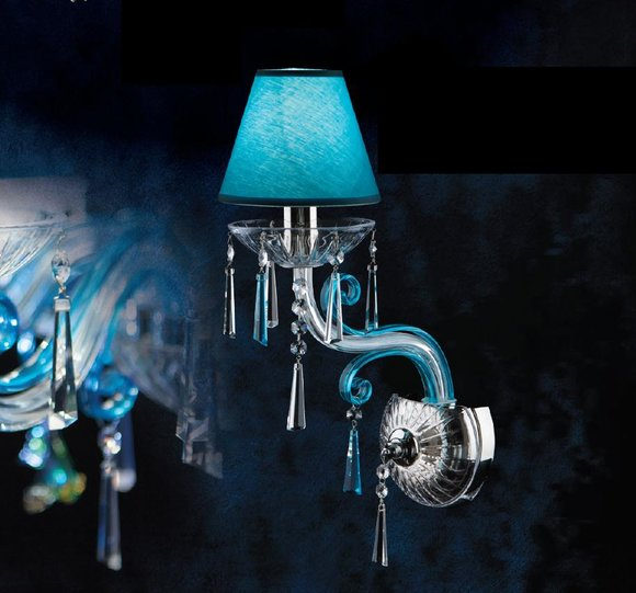 Glas Kristall Wand Lampe Kron Leuchter Wohn Zimmer Beleuchtung Elite Bohemia Neu