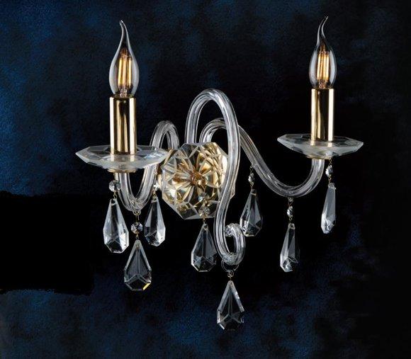 Wandleuchte Bohemia Luster Antik Stil Kronleuchter Wand Neu Wandlampe Lampen