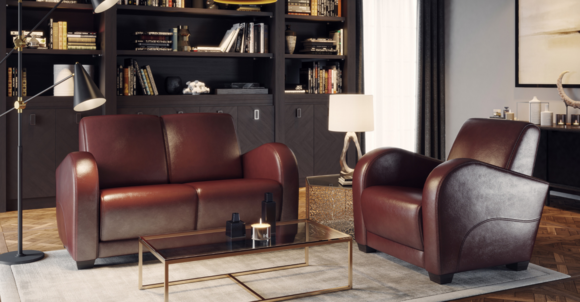 Edler Design Zweisitzer Luxus Klasse Modern Stil Premium ...