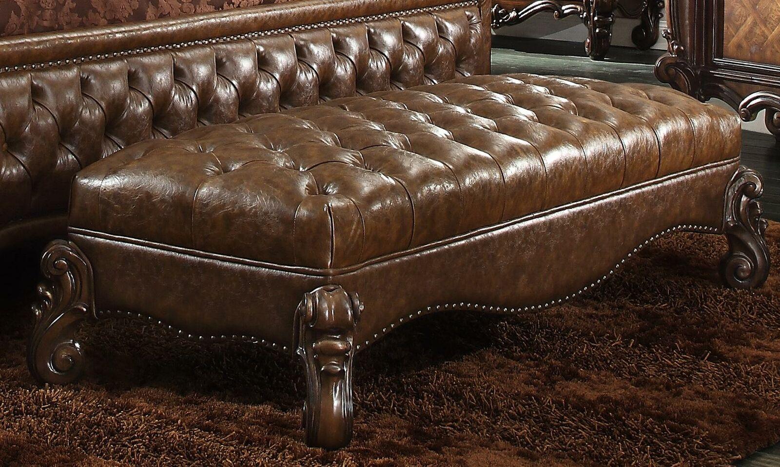 Chaiselounge Antik Stil Sofa Liege Couch Liegen Chaise Leder Barock Rokoko Neu
