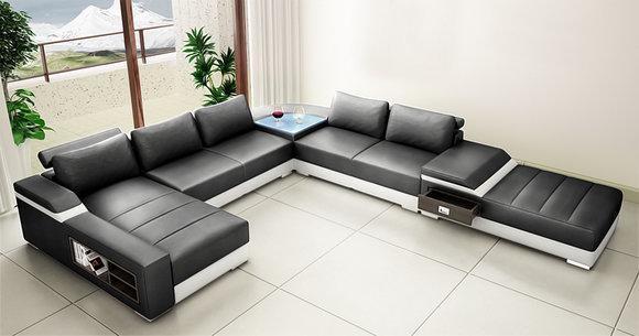 Wohnlandschaft Ecksofa Sofa Couch Polster Ecke Möbel Garnitur XXL Big Sofas Neu