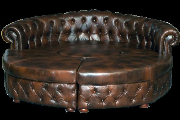 Fantastisch Chesterfield Rundsofa Ledersofa Runde Sofa Couch Wohnlandschaft Eckcouch  Ecksofa