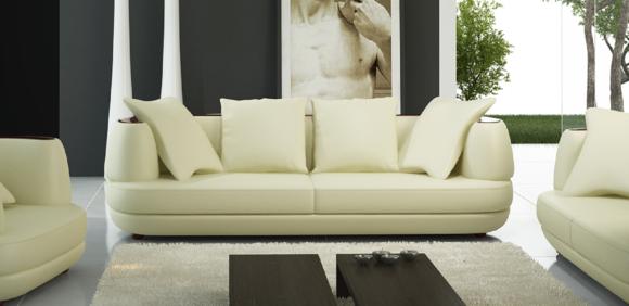 Designer Möbel Sofa Coch 3 Sitzer Polster Sofas Wohnzimmer Couchen Leder  Neu!