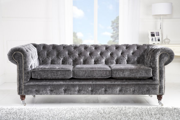 Luxus Samt Chesterfield Sofa Couch Polster Sitz Couchen Sofas ...