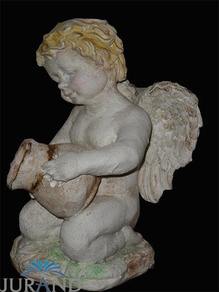 Steinfigur Wetterfest Steinguss Grabschmuck Grab Engel Gartenfigur Figur 8504