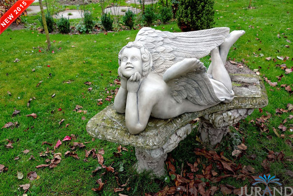 Steinfigur Wetterfest Steinguss Grabschmuck Grab Engel Gartenfigur Figur 8514