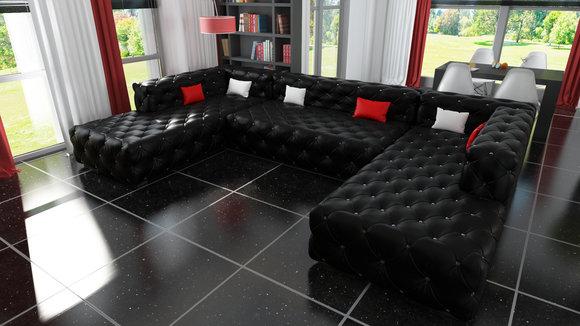 Wohnlandschaft design  Chesterfield Sofas und Ledersofas A916 Designersofa bei JV Möbel