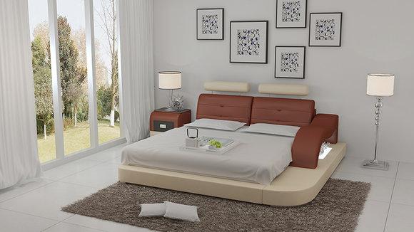 Wasserbett Hotel Doppel Bett Betten Komplett Lederbett Polsterbett Wasser  LB8802
