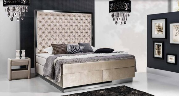 xxl polster designer bett chesterfield boxspring bett hotelbett doppelbett neu. Black Bedroom Furniture Sets. Home Design Ideas