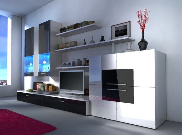 Design Mobel Wohnzimmerschrank  Wohnzimmer Ideen