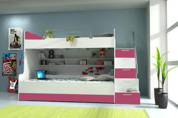 Etagenbett Rosa : Etagenbett rosa hochbett weiß mit mixxi