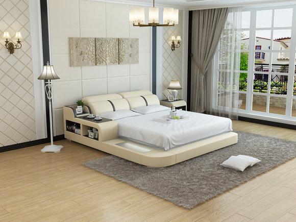 Wasserbett Hotel Doppel Bett Betten Komplett Lederbett Polsterbett