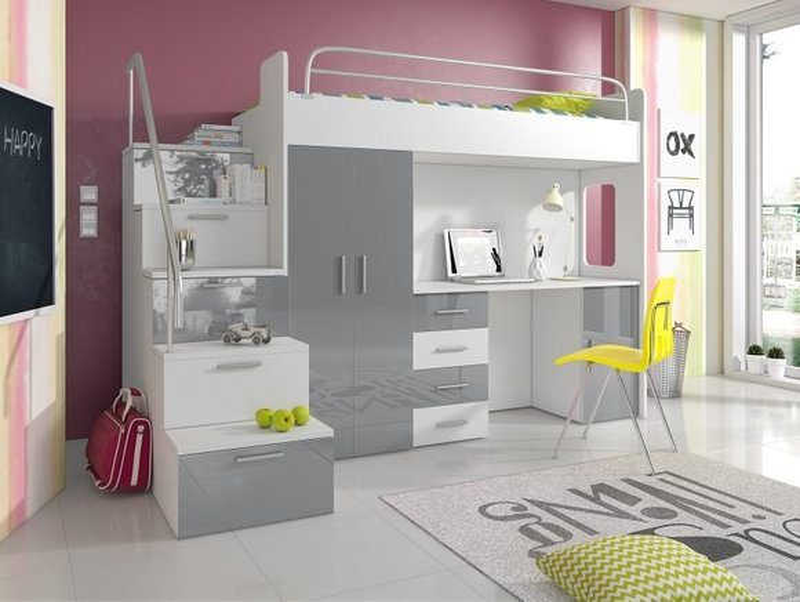 Etagenbett Mit Sofafunktion : Doppelstockbett stockbett bett etagenbett mit schreibtisch