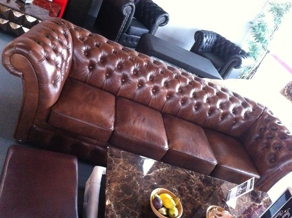chesterfield 270cm big sofa couch leder sofa 5 sitzer. Black Bedroom Furniture Sets. Home Design Ideas