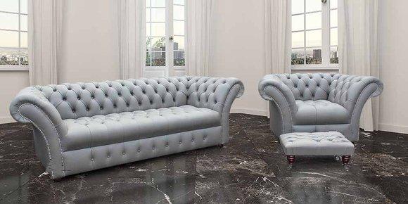 4+1 XXL Big Chesterfield Sofagarnitur Sitz Sofa Polster Couch Garnitur Neu