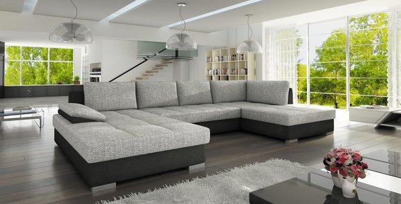 Wohnlandschaft xxl couch sofa mit bettfunktion for Schlafsofa xxl mit bettkasten