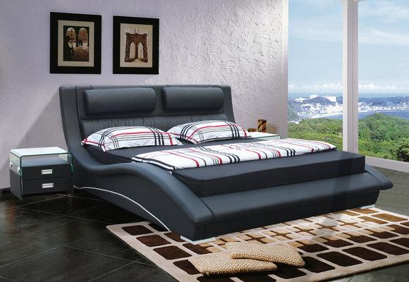 jvmoebel polsterbett lederbett bett oliver 140 160 180x200cm. Black Bedroom Furniture Sets. Home Design Ideas