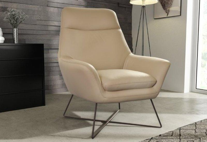Sessel Designer Stuhl Polster Relex Stoff Textil Leder Lounge Neu Ontario