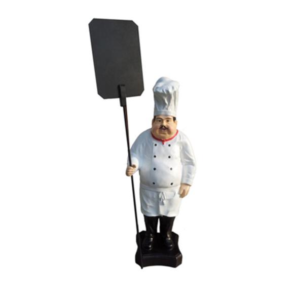 Werbefigur Koch Figur Statue Skulptur Menue Tafel Werbeaufsteller Speisekarte
