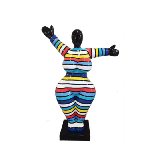 Moderne Wohnzimmer Dekoration Statue Figuren Skulpturen Bunte Deko Abstrakt 85cm