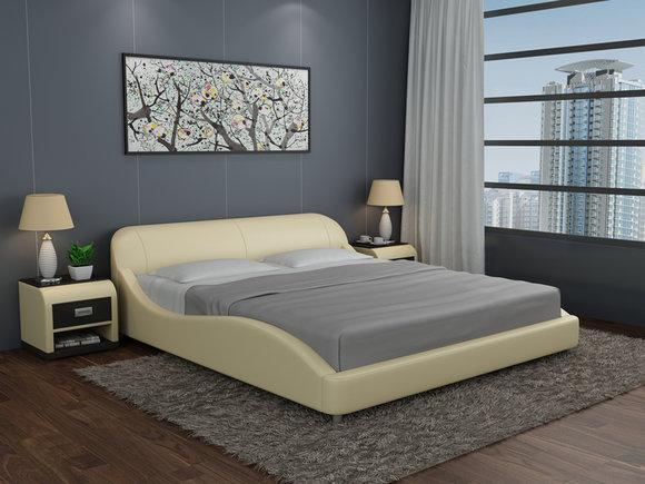 Wasserbett Hotel Doppel Bett Betten Komplett Lederbett Polsterbett Wasser  LB8822