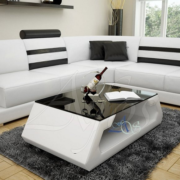 couchtisch glas leder inspirierendes design f r wohnm bel. Black Bedroom Furniture Sets. Home Design Ideas