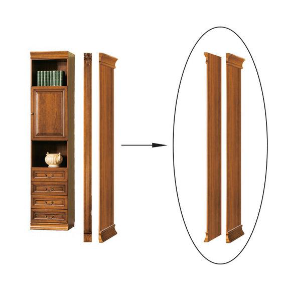 Klassisches Abschlußelement für Bücherschrank Bücherregal Schrank - Model SE-B2