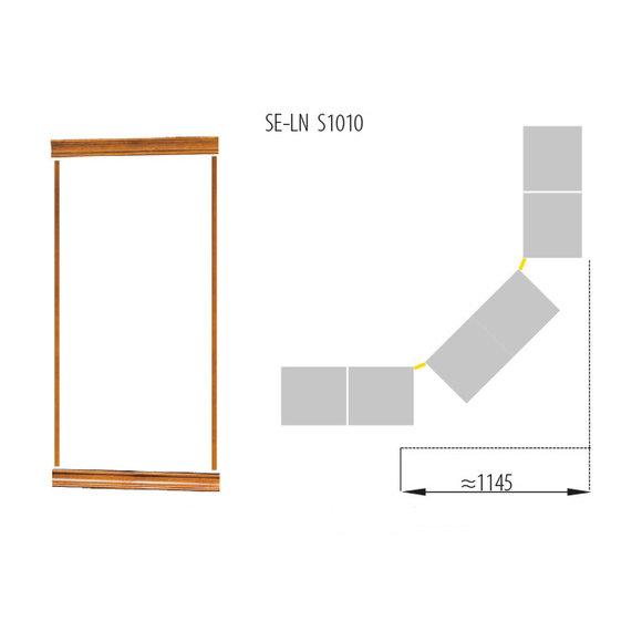 Klassische Kronenabschluss Satz für Bücherschrank Schrank System SE-LN-S1010