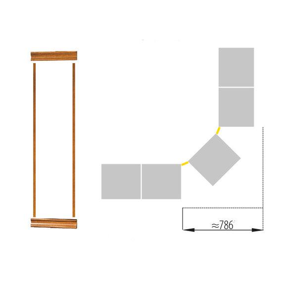 Klassische Kronenabschluss Satz für Bücherschrank Schrank System SE-LN-S507