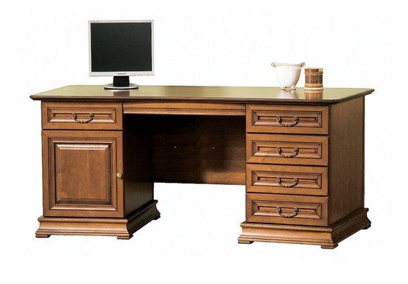 Klassische Schreibtisch Büromöbel Tisch Büro Chef Schreibtische Echtholz - SE-S
