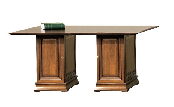 Klassische Schreibtisch Büromöbel Tisch Büro Chef Schreibtische Echtholz SE-S2