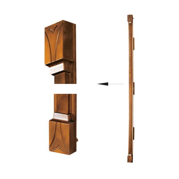 Klassische Pfeiler Abschlußsatz für Schrank Schrankwand System SE-st-A-N Pfeiler