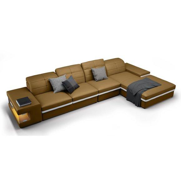 ecksofa sofa l form couch polster designer leder xxl. Black Bedroom Furniture Sets. Home Design Ideas