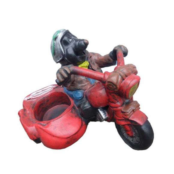 Skulptur Biker auf einem Motorrad Dekoration Statuen Figuren Skulpturen 55cm