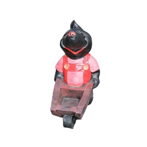 Design Maulwurf Schubkarren Figur Statue Skulptur Figuren Dekoration 34cm Deko